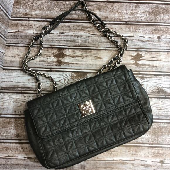 Nicole Miller Handbags - Nicole Miller Quilted Shoulder Bag Chain Straps
